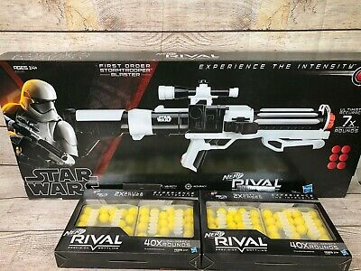 NEW Nerf Rival Star Wars Stormtrooper Blaster 2018 Hasbro w/ extra Rival Rounds