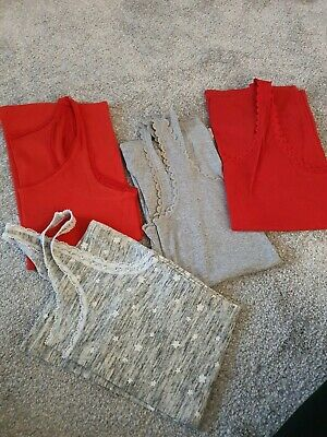4 X Vests Red And Grey Medium And Large Gap And H&M
