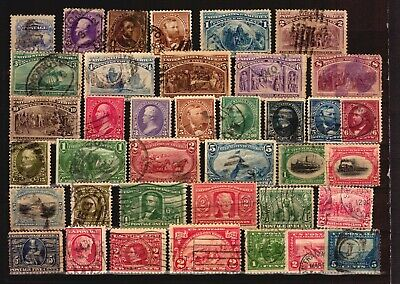 USA 19 Cent. used stamp lot early stamps catalogue value $400