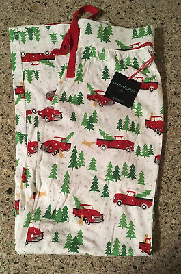 Red Truck~Christmas Tree~Snow Cynthia Rowley~XS~Women's pajama lounge pants NWT
