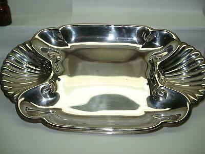 International Sterling Silver Shell Serving Dish Platter 26+ Ounces