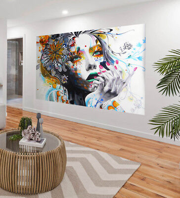 original painted art oil painting graffiti princess Street modern canvas