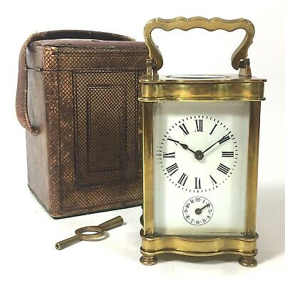 Beautiful FRENCH Brass Carriage Clock & Alarm ex Rev C.E. Walters C1903 Case