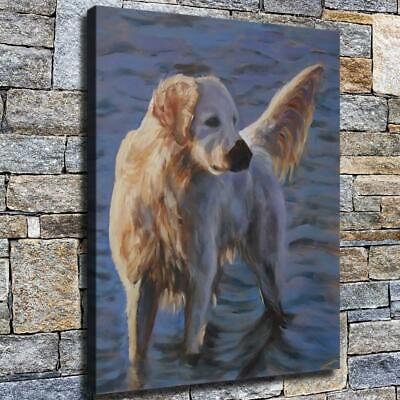 "12""x16"" dog High Definition Canvas Print Home Decoration Studio Wall Poster"