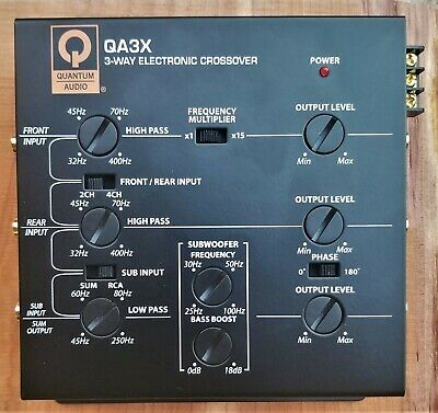 OMX-232 3 WAY ACTIVE CROSSOVER RARE OLD SCHOOL ITEM!