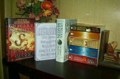 George RR Martin books Lot Complete set Game of Thrones 1-5 Fire & Blood +2 more