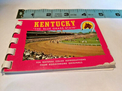 Vintage Souvenir Mini Scenic View Photo Book Kentucky Vacation 1960s