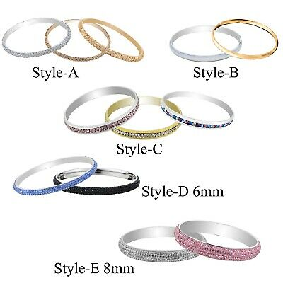 Stainless Steel Bangle Bracelets With Heart Pandent for Women Personalized Gift