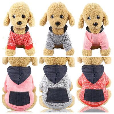 Clothes Pet SWEATER Chihuahua Yorkie Small Dog Coat Jacket Fleece Hoodie Warm