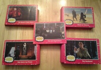Topps Star Wars Journey to The Rise of Skywalker Red (Target) parallel singles