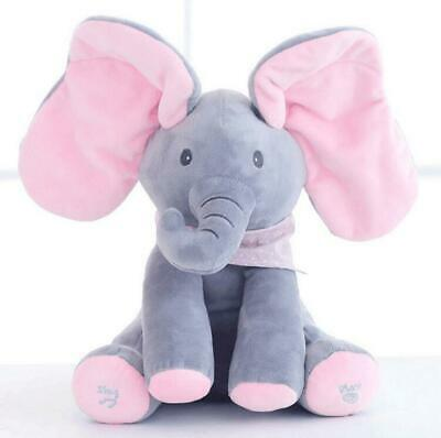 Peek-A-Boo Interactive Elephant Plush Toy Cozy Baby Animal Gift