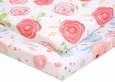 Pack n Play Fitted Pack n Play Playard Sheet Set-2 Pack Portable Mini Crib Sheet