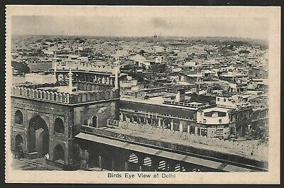 India Birds Eye View of Delhi Vintage Postcard
