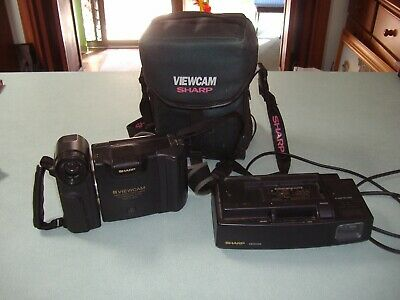 "Vintage retro ""Sharp"" Viewcam video and still camera with carry bag. Untested."