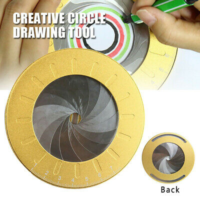 Circle Drawing Tool Measuring Ruler Stainless Steel Party Rotary Adjustable Math