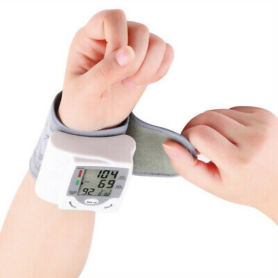 Digital LCD Wrist Blood Pressure Monitor Heart-Beat Rate Pulse Meter Measure USA