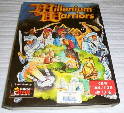 MILLENIUM WARRIORS GAME COMMODORE 64 / 128 First Star Software 1989
