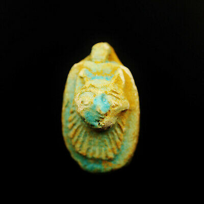 Rare Ancient Egyptian Faience Amulet Figurine