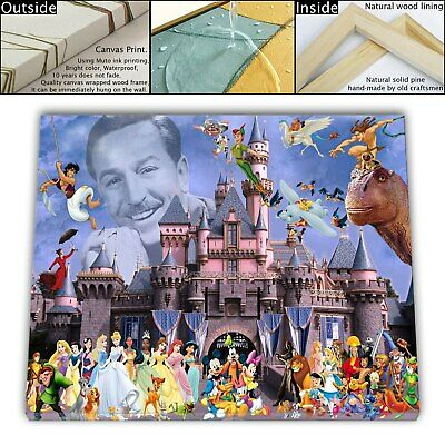 "16""x22""Disney HD Canvas print Framed painting Home Decor Picture Wall Art"