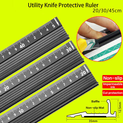 20/30/45cm Zine Alloy Ruler Marking Metal Safety Cutting School Art Craft New