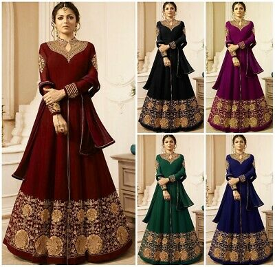 Designer Salwar Kameez Suit Bollywood Indian Dress Ethnic Anarkali Kameez FM