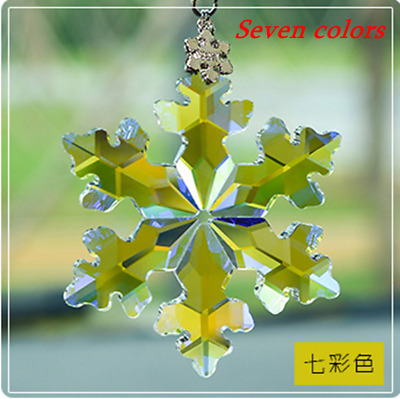 #A 2019 Annual Edition Snowflake Christmas Ornament Crystal Large Suit For Cars