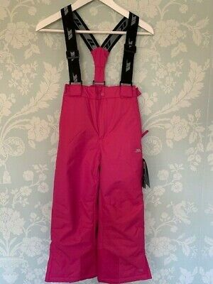 Girls Pink Trespass Ski Trousers / Salopettes - New with tags - Aged 5 - 6