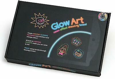 Marvin's Magic Glow Pad Art Neon Effect Drawing Board Bring Art to Life - Black