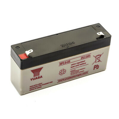 Yuasa NP2.8-6 S Lead Acid Sealed Rechargeable VRLA Battery UPS Systems 6v 2.8amp