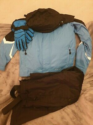 Boys 9-10 134-140cm winter ski jacket & ski trousers with gloves