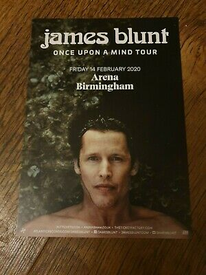 JAMES BLUNT - ONCE UPON A MIND TOUR 2020 FLYERs x4