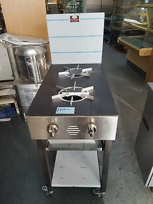 Unique Two Burner Commercial Wok Cooker Brand New