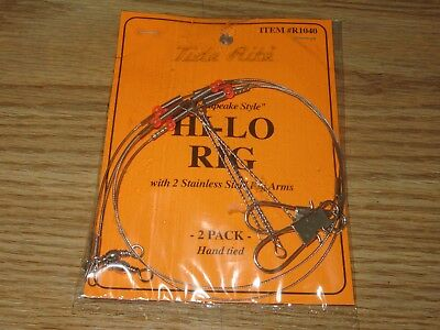 6 PORGY RIGS SCUP TIDE RITE R460-2 BEADED HI-LO RIG SALTWATER  FISHING MUSTAD