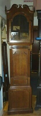 Good Antique Longcase Grandfather Clock Case For 20ins By 14ins Dial
