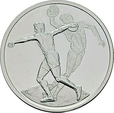 Griechenland 10 Euro 2004 Olympiade Athen Discuswerfer Silber (M369)