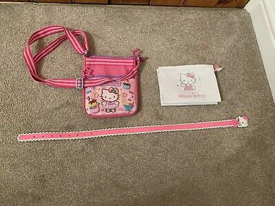 Hello Kitty Cross Body Bag, Pouch And Belt