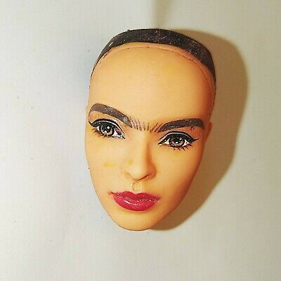 Barbie Inspiring Woman Frida Kahlo Bald Doll Head For OOAK