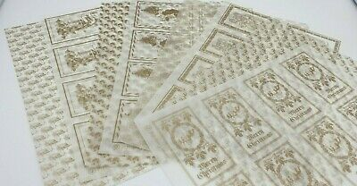 8 x A4 Sheets Traditional CHRISTMAS Toppers Vellum Paper Transparent