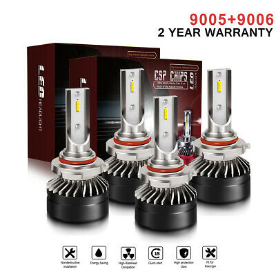 Mini 9005/9140+9006/HB4 Combo LED Headlight Kit 120W 24000LM Hi/Lo Beam Bulb