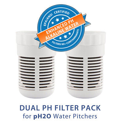 Two Replacement Filters For Seychelle Ph2O Alkaline Water Pitcher + Free Ship **