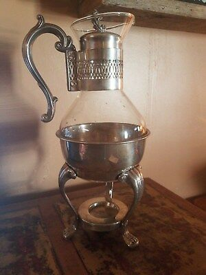 FB Rogers Silver Co 1940's Tea Coffee Warmer Carafe Stamped Silverplated