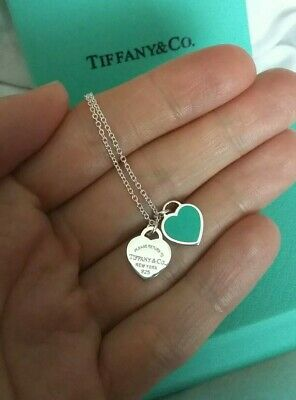 Tiffany & Co Return To Double Mini Heart Silver Necklace Stunning Gift Box 🎁