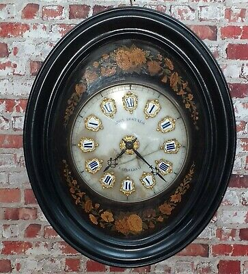 Antiguo Reloj De Pared Finales Siglo Xix