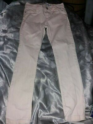 Girls Beige Cord Trousers With Adjustable Waist-Age 8 Years, Next