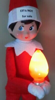 Christmas Elf Props Working Light Bulb Accessory On The Shelf Games Santa Toys