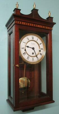 Comitti of London Key Wind Westminster Chime Mahogany Wall Clock