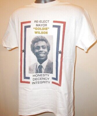 Mayor Goldie Wilson Poster Back To The Future T Shirt 80s Sci Fi Film Comedy 089