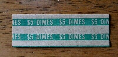 20 Dime Coin Wrappers, Pop Open, Flat Paper Tubes for Dimes
