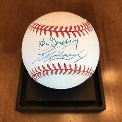 Ken Griffey Jr & Sr Signed Autographed American League Baseball Mariners