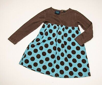 BNWOT girls 'MINI BODEN' SPOTTED DRESS age 4-5